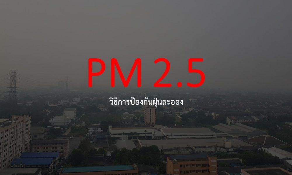 วิธีป้องกันฝุ่นละออง PM 2.5